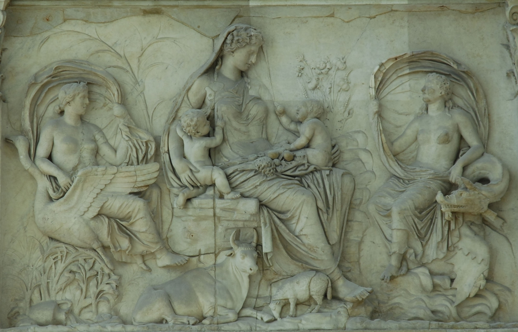 Ara Pacis, 9 BC, photo J. Long 23 July 2006