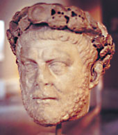 Diocletian, portrait head c 284 from Nicomedia, Archaeological Museum of Istanbul, photo J. Long